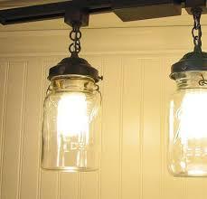 mason jar track lighting pendant new quart chandelier