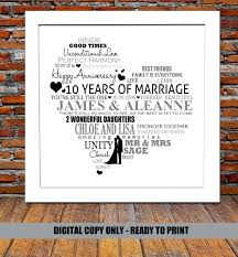 10 years wedding anniversary gift ideas year wedding anniversary gift ideas pas gift ideas anniversary gifts