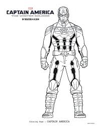 Captain America Winter Soldier Coloring Pages Coloring America