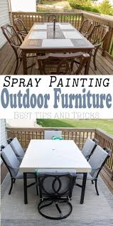 how to spray paint outdoor metal furniture to refresh and last we purchased an old