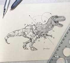 Wild drawing of animals Wildlife Wild Animals Intricate Drawings Fused With Geometric Shapes Artists Network Wild Animals Intricate Drawings Fused With Geometric Shapes