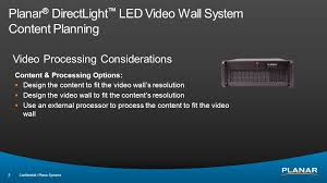 Small Picture Planar DirectLight LED Video Wall System ppt video online download