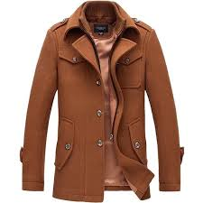 brown trench coat mens winter business single ted trench coat turn down collar casual suit overcoat dark brown trench coat mens