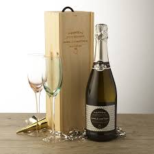 personalised enement prosecco and wooden gift box