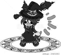 お洒落で可愛い魔法使いの女の子のイラストのイラスト素材 25851061