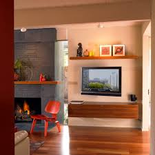 Over The Fireplace Tv Cabinet Modern Fireplace With Tv Above Living Room Eclectic With Wall Mounted Tv Wood Shelf 7jpg