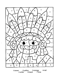 Coloring Pages: turkey color by number. Thanksgiving Color By ...