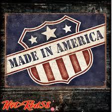 made america hot rod car americana garage advertising metal tin wall signs uk