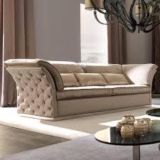 italian designer leather on upholstered sofa