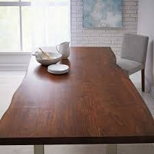 appealing living edge dining table live wood west elm chair uk oz design canada walnut round