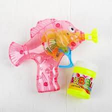 <b>Мыльные пузыри</b> «<b>Рыбка</b>-пистолет» со светом, 50 мл, цвета МИКС
