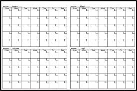 4 Month Calendar Printable Month Calendars Photography Calendar