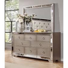 dresser with mirror. Brilliant Mirror Best Master Furniture Silver Bronze Dresser And Mirror Intended With Overstockcom