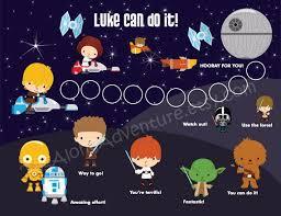 Star Wars Behavior Chart Printable Personalized Incentive Reward Chart For Children