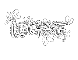 Idgaf Coloring Page By Colorful Language 2015 Posted With