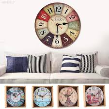 home garden room antique decor wall clocks decoration clock shabby chic kitchen