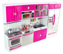 Barbie Kitchen Furniture Amazoncom Doll Playsets My Modern Kitchen 32 Full Deluxe Kit
