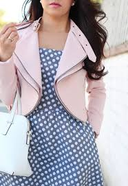 the limited polka dot fit and flare dress and zara cropped jacket with zips 8