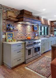 kitchen brick back splash accent wall