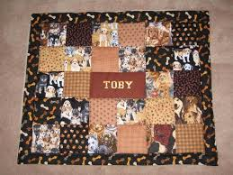 Hand Crafted Custom Dog Quilt by Kindred Souls | CustomMade.com & Custom Made Custom Dog Quilt Adamdwight.com