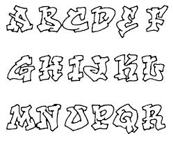 Graffiti Alfabet Kleurplaten Creative Lettering Graffiti Alfabet