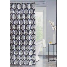 unique shower curtains. UNIQUE MODERN MEDALLION SHOWER CURTAIN \u0026 HOOKS NAVY BLUE GREY BROWN IVORY NEW Unique Shower Curtains