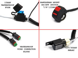 complete spot fog light wiring loom harness kit on off image 1 image 2