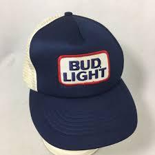 Bud Light Sun Visor Vintage Bud Light Beer Trucker Hat Mesh Patch Budweiser