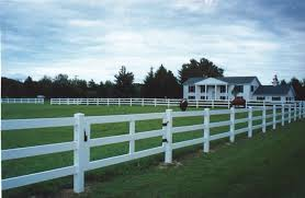 rail fence styles. 3-rail Ranch Style Vinyl Fence With Approximate Height Of 48\ Rail Styles