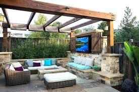 covered patio with corner fireplace fresh covered outdoor patio for ideas modern with furniture concrete decks