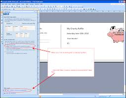 How To Create Tickets In Microsoft Word