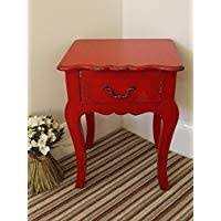 red bedside table. Plain Red Garden Sculptures U0026 Ornaments FRENCH STYLE BEDSIDE TABLE CREAM CABINET  SHABBY CHIC Red On Red Bedside Table
