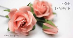 Make Easy Paper Flower Easy Tutorial To Make A Paper Rose Free Template