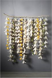 Nursery Decor Idea Only With Paper Origami Flowers Bhldn