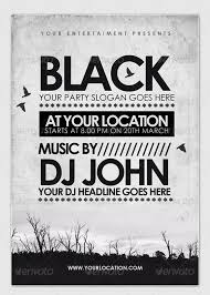 Flyer Black And White 30 Black Dark Flyer Templates Psd Ai Word Format Free