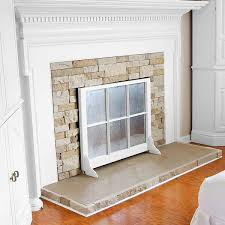 diy fireplace screen. A Salvaged Window Sash With Added Brackets Enhances This Fireplace When Not In Use. | Diy Screen R
