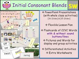 Phonics: Phase 4 Consonant Blend Sw-CCVC Words, Presentations ...