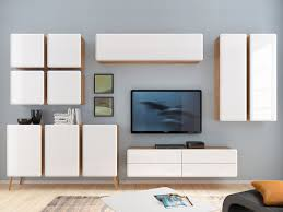 Living Room Furniture Cabinet High Gloss White Living Room Furniture Set 11 Items Wall Cabinet