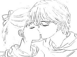 Anime Coloring Sheets Anime Couples Coloring Pages Cute Couple