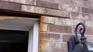 lintel damage above garage opening