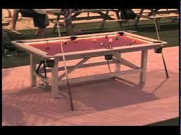 Diy pool table plans Custom Built Outdoor Pool Table Youtube Outdoor Pool Table Youtube