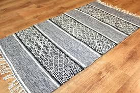 white rag rug rag rugs black white white rag rug runner