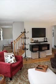 Floating Shelves Around Tv Mounted Tv Floating Shelves Our Homes Decor Pinterest