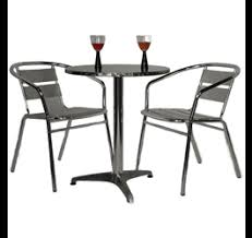 table and chairs png. metal table and chairs png