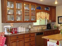 Image of: Kitchen Cabinets with Glass Doors Double