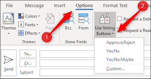 Email Buttons How To Add Voting Options To An Email In Microsoft Outlook