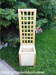 how to build a planter with trellis