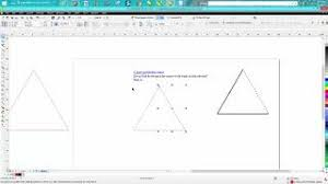 Amazing line art from the face of your favorite animal , your favorite robot , and others use corel draw x4, x5, x6, and x7. Corel Draw Tips Tricks Triangle Part 3 Dotted Line Youtube