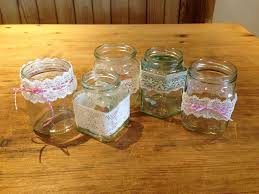 How To Decorate A Jar Vintage Style Lace Jam Jar Candle Holders 100 Steps 72