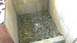 pebble stone shower floor pebble floor tile